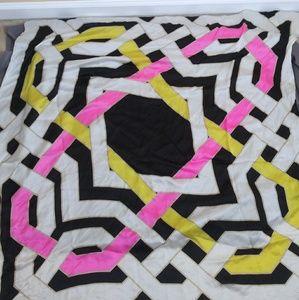 Echo Scarf silk white black pink yellow